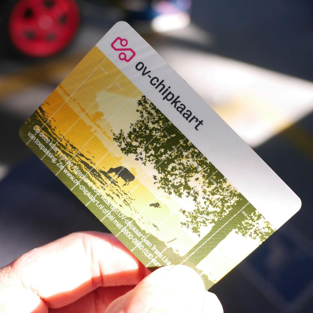 Eine niederländische OV Chipkaart (Bild: flickr.com/Franklin Heijnen CC BY SA).
